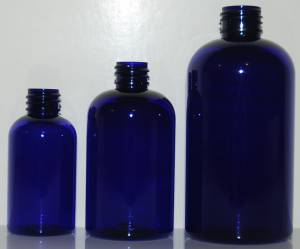 New Cobalt Blue PET Boston Round Bottles!