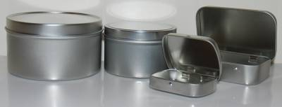 larger sized deep tins and new hinged tins